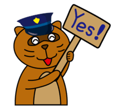 The police of leopard cat (English) sticker #8333394
