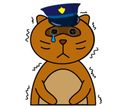 The police of leopard cat (English) sticker #8333396