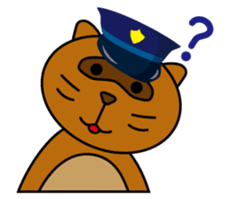 The police of leopard cat (English) sticker #8333400