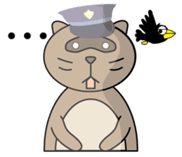 The police of leopard cat (English) sticker #8333405