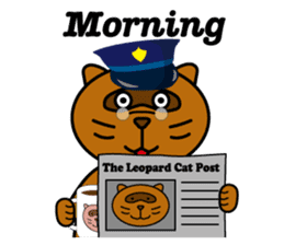The police of leopard cat (English) sticker #8333408