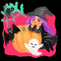 Fluffy balls (4) Halloween
