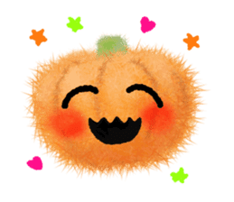 Fluffy balls (4) Halloween sticker #8337350