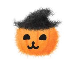 Fluffy balls (4) Halloween sticker #8337352