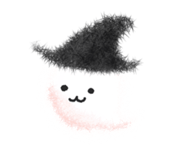 Fluffy balls (4) Halloween sticker #8337353