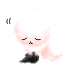 Fluffy balls (4) Halloween sticker #8337355