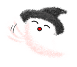 Fluffy balls (4) Halloween sticker #8337357