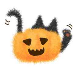 Fluffy balls (4) Halloween sticker #8337364