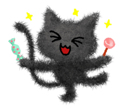 Fluffy balls (4) Halloween sticker #8337366