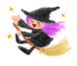 Fluffy balls (4) Halloween sticker #8337368