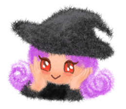 Fluffy balls (4) Halloween sticker #8337370