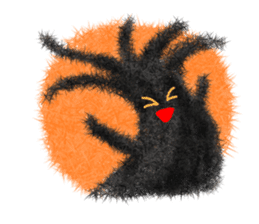 Fluffy balls (4) Halloween sticker #8337373