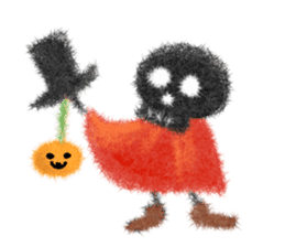 Fluffy balls (4) Halloween sticker #8337374