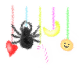 Fluffy balls (4) Halloween sticker #8337375