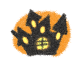 Fluffy balls (4) Halloween sticker #8337376