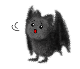 Fluffy balls (4) Halloween sticker #8337378
