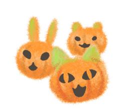 Fluffy balls (4) Halloween sticker #8337385