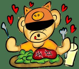 Rossy the food bears sticker #8347795