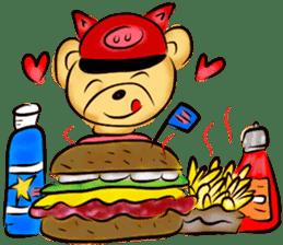 Rossy the food bears sticker #8347803