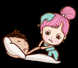 Sulky girl (EN) sticker #8349532