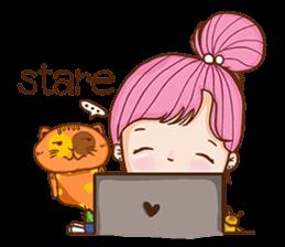 Sulky girl (EN) sticker #8349538