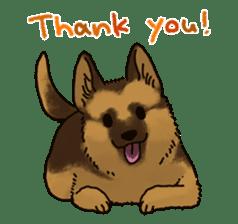 The German shepherd dog!! sticker #8352941
