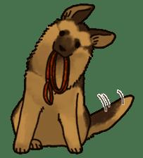 The German shepherd dog!! sticker #8352944