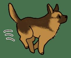 The German shepherd dog!! sticker #8352945