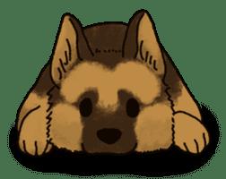 The German shepherd dog!! sticker #8352947