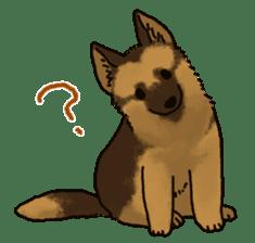 The German shepherd dog!! sticker #8352950