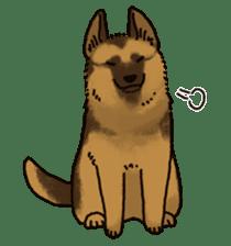 The German shepherd dog!! sticker #8352953