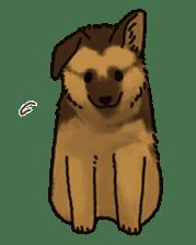 The German shepherd dog!! sticker #8352954