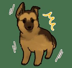 The German shepherd dog!! sticker #8352955