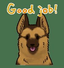 The German shepherd dog!! sticker #8352957