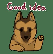 The German shepherd dog!! sticker #8352958