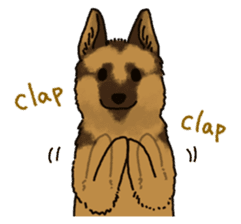 The German shepherd dog!! sticker #8352960