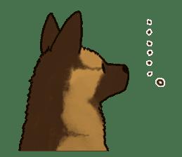 The German shepherd dog!! sticker #8352961