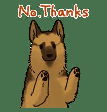 The German shepherd dog!! sticker #8352962