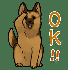 The German shepherd dog!! sticker #8352964
