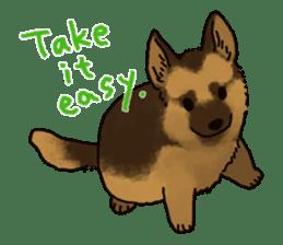 The German shepherd dog!! sticker #8352968