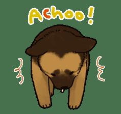 The German shepherd dog!! sticker #8352969