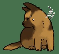The German shepherd dog!! sticker #8352970
