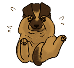 The German shepherd dog!! sticker #8352974