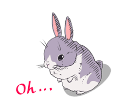 Momo the rabbit! sticker #8355916