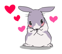 Momo the rabbit! sticker #8355926