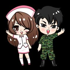 ทหารเเละพยาบาลสุดซ่าส์เเละน่ารักกุ๊กกิ๊ก