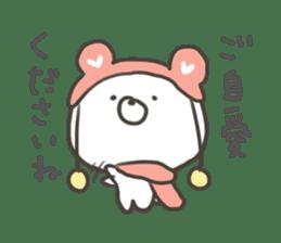 GOOD bear in winter sticker #8365422