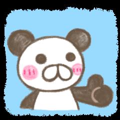 warm and comfortable panda