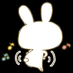 Sticker.little rabbit2