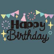 สติ๊กเกอร์ไลน์ Celebration & Birthday! -Stylish- 2